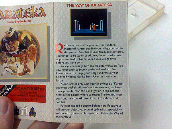 Encarte do game Karateka