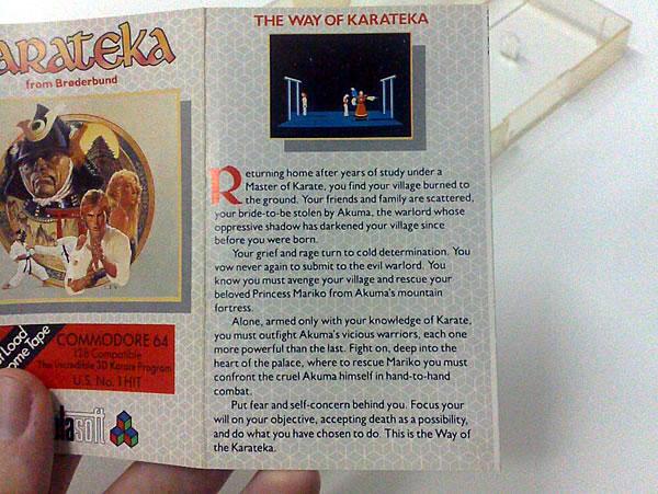 Encarte do game Karateka