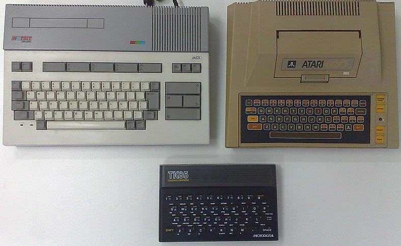 Hotbit, Atari 400 e TK 85